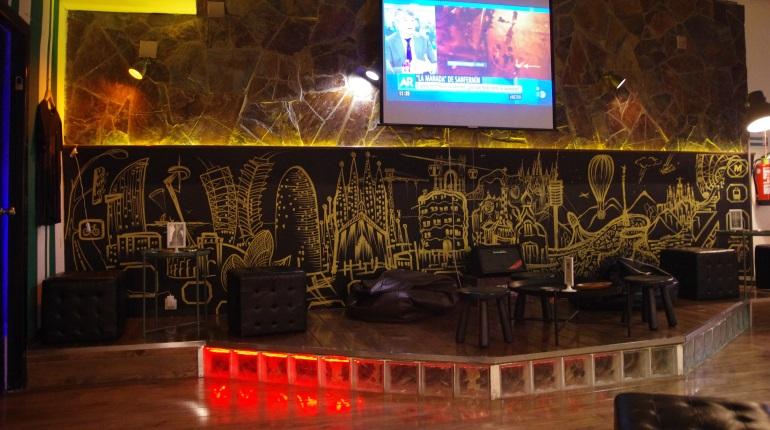 Stage at StarGrass BCN cannabis club