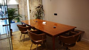Boardroom Table at Mon Ami Marijuana Club Barcelona