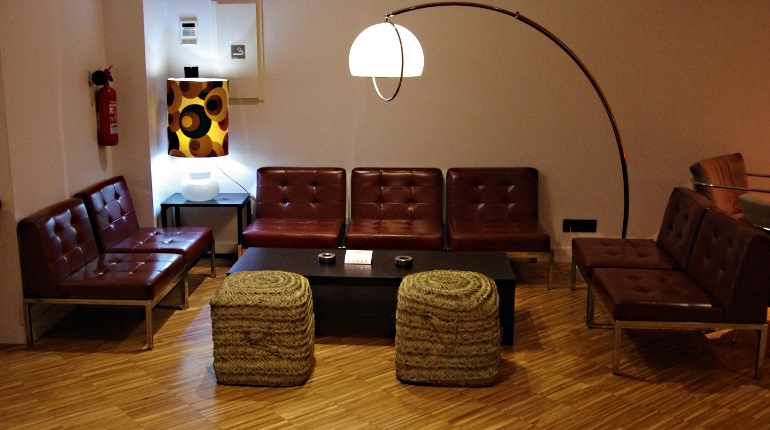 Brown Living Room Area at Mon Ami Private Cannabis Club BCN