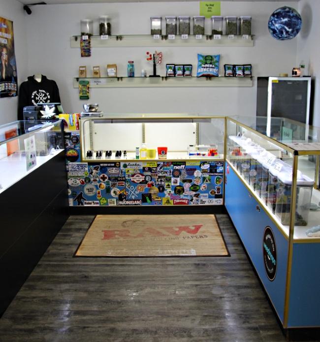 Center shot of NWO marijuana dispensary in Belfast Maine