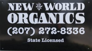 New World Organics Sign in Belfast Maine