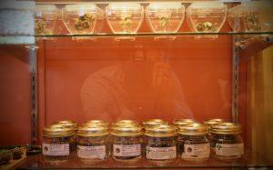 Cannabis in jars at Sensi Sensei marijuana dispensary in Maine