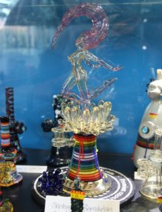 Destioney Pinkham - Selection of fine glass smoking pieces