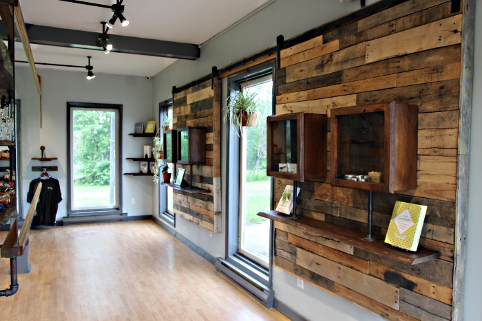Looking down the back wall at Herban Cannoisseur Waldoboro cannabis caregiver