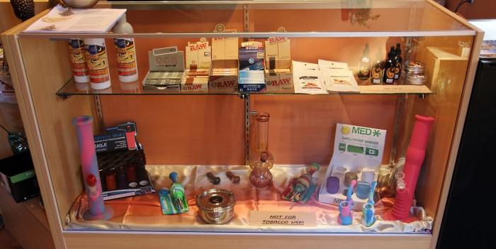 Papers and other products at Sensi Sensei Maine marijuana dispensary
