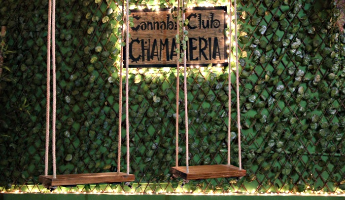 Swings at Chamaneria Cannabis Club in Barcelona Spain