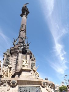 Columbus Monument at Las Ramblas Barcelona