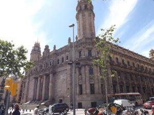 Main post office on Via Laietana in Barcelona