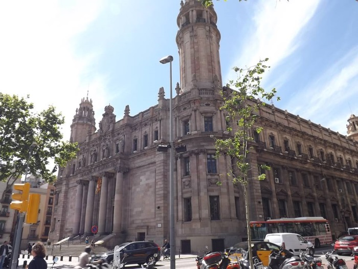 Main post office on Via Laietana in Barcelona