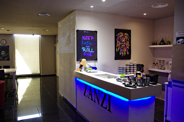 The Zanzi Cannabis Club in Barcelona