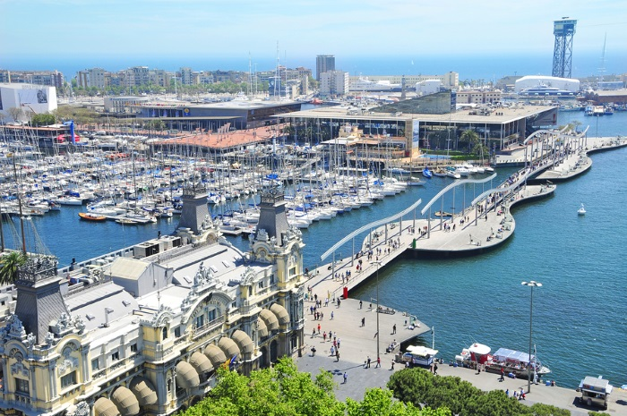 The Marina and Beach in Barcelona Spain - Not Many Cannabis Clubs Near Here