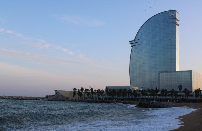 Barceloneta beach perfect spot for a joint