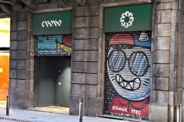 Entrance to Choko Cannabis Club in Barcelona Spain