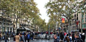 Las Ramblas in Barcelona Spain is not the place to get marijuana