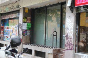 Outisde LaMente Cannabis Club in Barcelona