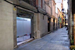 Outside Alcatraz Weed Club in Barcelona