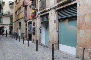 Outside StrainHunters Cannabis Club in Barcelona Spain