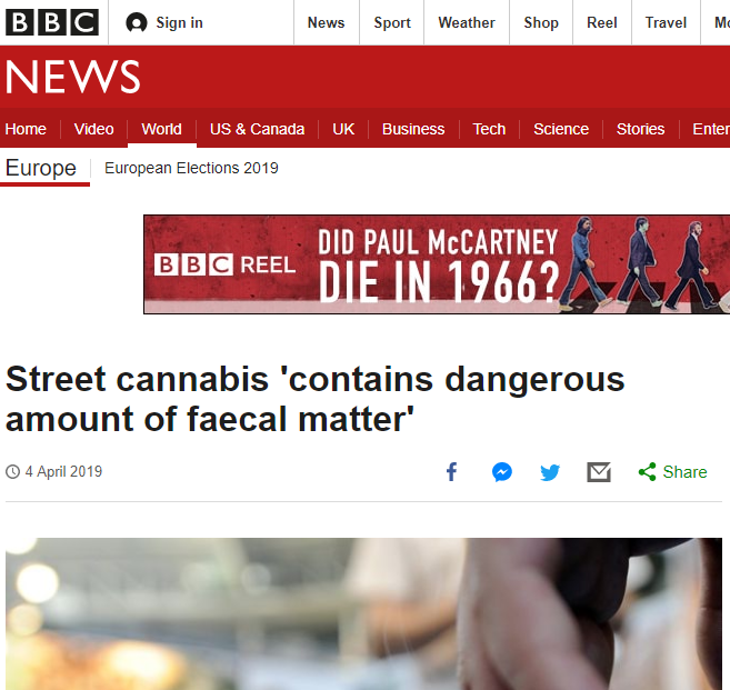 BBC Report on Madrid Cannabis and Fecal Matter