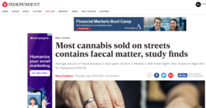 The Independent Reporting on Cannabis in Madrid