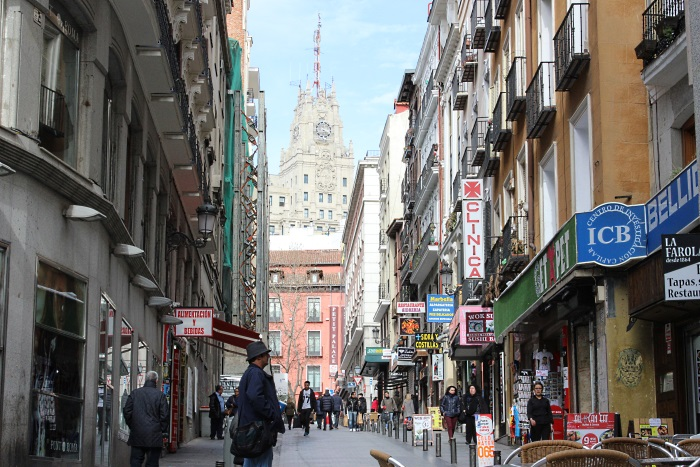 You can buy street hash in areas like this in downtown Madrid but dont