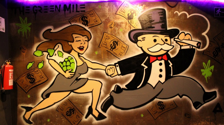 Featured Image - The Green Mile Cannabis Social Club Graffiti