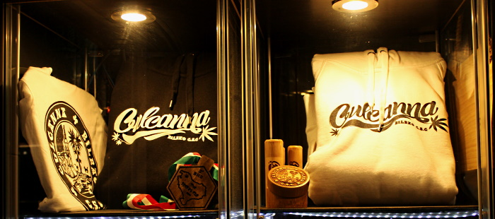 Part of the merchandising of Culcanna private smoking club