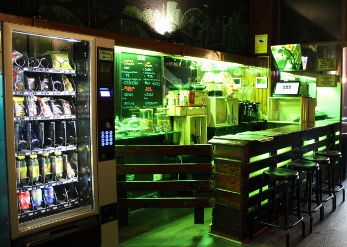 The bar is not big but offers a wide variety of options for when the munchies hit