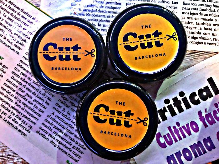 The Cut Barcelona - Logo on Jar Lids for Marijuana