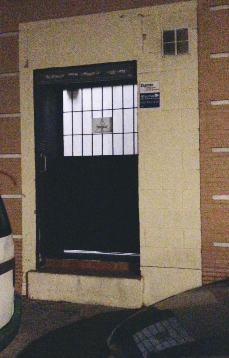 Entrance to Big Sur Cannabis Club in Seville Spain