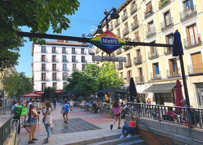 The Chueca metro stop will permanently display the rainbow flag in support of the LGBTQ Community