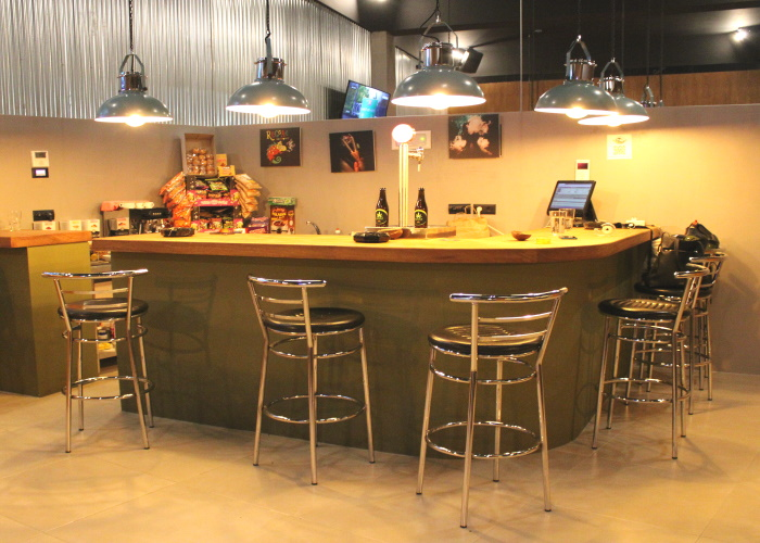 The bar at Farmer's Club offers plenty of options for when the munchies hit