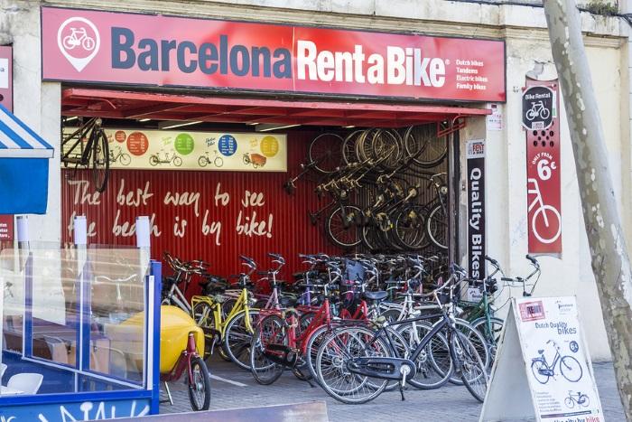 Rent a bike store in Barcelona