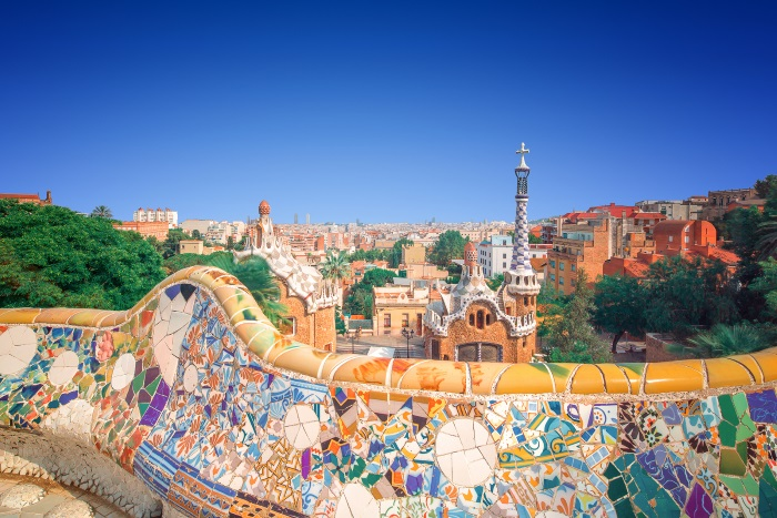 Parc Guell is a cool place to hang out after smoking weed in Barcelona
