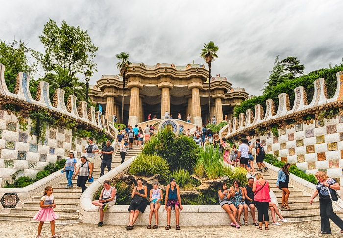 Parc Guell is one of the most beautiful parks you'll ever see.