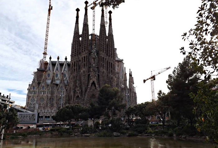 Sagrada Familia in Barcelona Spain - another weed tourist attraction